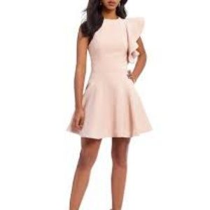 C/MEO COLLECTIVE One Shoulder Blush Ruffle Dress